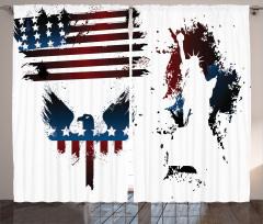 ABD Kartal Heykel Fon Perde Şık