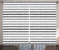 Gri Beyaz Çizgili Fon Perde Şık Tasarım Trend