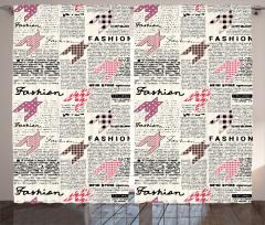 Gazete Temalı Fon Perde Siyah Beyaz Sayfa Moda