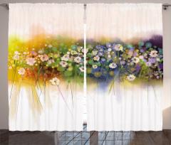Dekoratif Çiçekler Fon Perde Çeyizlik Şık Tasarım