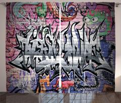Tarz Duvar Yazısı Fon Perde Gençler İçin