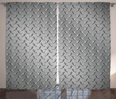 Metal Temalı Fon Perde Gri Gümüş Şık Tasarımlı