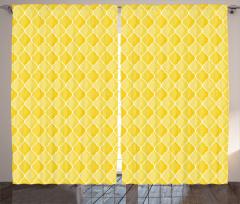 Sarı Duvar Kağıdı Fon Perde Limon Formlu