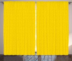 Çiçekli Duvar Kağıdı Fon Perde Sarı Fon