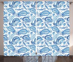 Sulu Boya Damlalar Fon Perde Mavi Şal Dekoratif