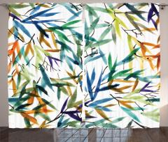 Rengarenk Bambu Desenli Fon Perde Şık Dekoratif