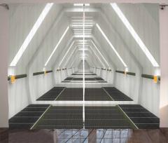 Uzay Gemisi Temalı Fon Perde Beyaz Teknoloji Dekor