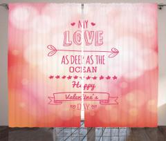 Sevgililer İçin Fon Perde Romantik Aşk Pembe Şık
