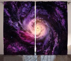 Uzay Temalı Fon Perde Mor Kozmos Galaksi Evren