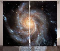 Kozmos Temalı Fon Perde Gri Galaksi Uzay Evren