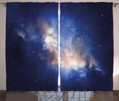 Yıldızlar ve Gökyüzü Fon Perde Uzay Şık