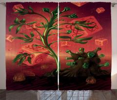 Yumruklu Ağaç ve Küpler Fon Perde Fantastik