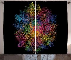 Rengarenk Çiçekli Desen Fon Perde Şık Tasarım