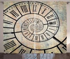 Roma Rakamlı Saat Fon Perde Dekoratif Şık