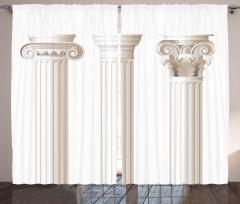 Tarihi Krem Sütunlar Fon Perde Sanat Dekoratif