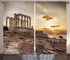 Deniz Kıyısındaki Tarih Fon Perde Sanat Gökyüzü