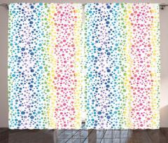 Rengarenk Baloncuklar Fon Perde Dekoratif Şık