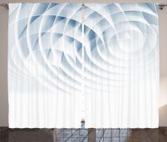 3D Etkili Fon Perde Geometrik Desenli Mavi Beyaz