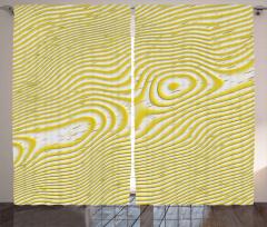 Sarı Dalga Desenli Fon Perde Şık Tasarım