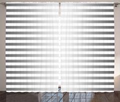Gri Beyaz Şerit Desenli Fon Perde Modern
