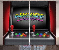 Nostaljik Oyun Makinesi Fon Perde Siyah