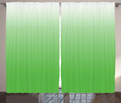 Yeşil Dekoratif Desenli Fon Perde Şık Tasarım