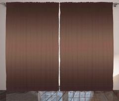 Dalgalı Kahverengi Fon Perde Dekoratif Şık Tasarım