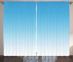 Mavi ve Beyaz Desenli Fon Perde Şık Tasarım
