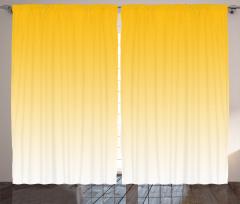 Sarı Beyaz Desenli Fon Perde Dekoratif Şık Tasarım