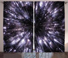 Yıldızlar ve Uzay Fon Perde Gri Siyah Şık