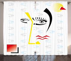 Siyah Göz ve Kirpikler Fon Perde Modern Sanat