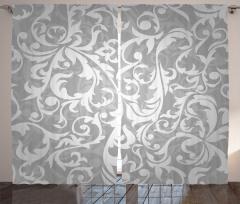 Duvar Kağıdı Desenli Fon Perde Gri Şık Tasarım