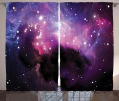 Bulutsu ve Yıldız Fon Perde Mor Uzay Kozmos