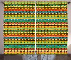 Çizgili Desenli Fon Perde Geometrik Şık Tasarım