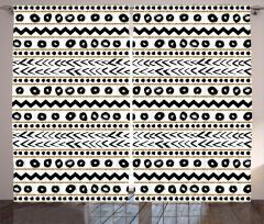 Çizgili Desenli Fon Perde Siyah Altın Yaldız Beyaz