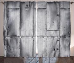 Nostaljik Metal Kapı Fon Perde Dekoratif