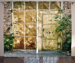 Metal Kapı ve Duvar Fon Perde Şık Tasarım