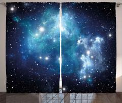 Evren ve Galaksi Fon Perde Şık Tasarım