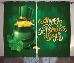 Yeşil Şapka ve Altınlar Fon Perde Aziz Patrik Günü