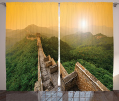 Çin Seddi ve Orman Fon Perde Antik