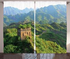 Ormana Gömülü Çin Seddi Fon Perde Antik