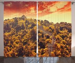 Ağaçlar ve Çin Seddi Fon Perde Antik Çin
