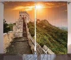 Güneşli Çin Seddi Fon Perde Antik
