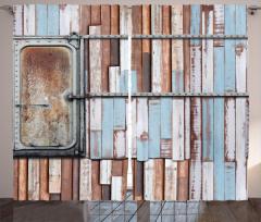 Ahşap ve Metal Duvar Fon Perde Country Tarzı