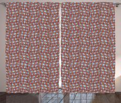Kahverengi ve Dalgalı Kafes Fon Perde Dekoratif