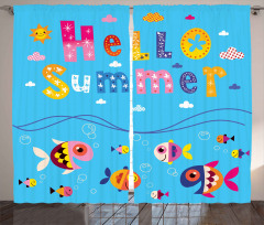 Güneşli Gün ve Balıklar Fon Perde Yaza Merhaba