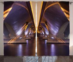 Köprü Ayakları Fon Perde Modern Mimari