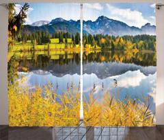 Orman Göl ve Sıradağ Fon Perde Sonbahar