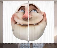 Dudağını Isırmış Adam Fon Perde 3D Efektli