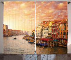 Venedik'te Gün Batımı Fon Perde Romantik